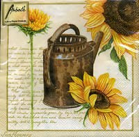 20 serviettes papier Sunflowers Cream