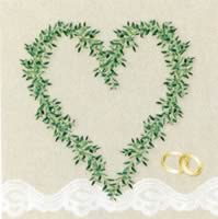 20 serviettes papier wedding rings