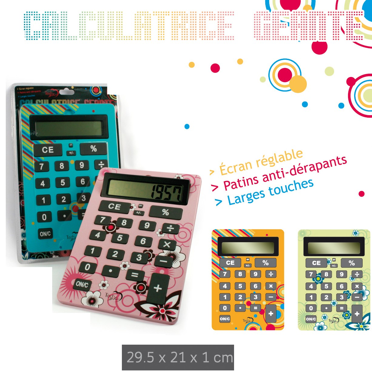 Calculatrice géante design